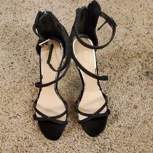 Black Strappy Shoe